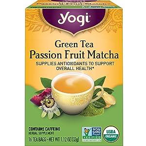 Yogi Tea - Green Tea Passion Fruit Matcha - 4 Pack, 64 Tea Bags