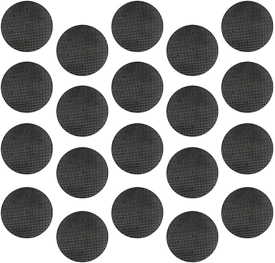 80 Piezas Rejilla Inferior de la Maceta Jardiner/ía Maceta Agujero Malla Almohadilla de Malla de Pl/ástico para Maceta para Plantas de Jard/ín Cuadrado