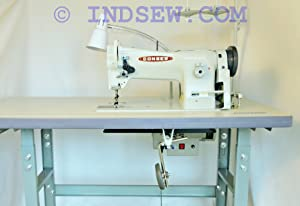 Consew 206RB-5 Walking Foot Upholstery Machine w/Table & Motor (Table Comes Assembled)