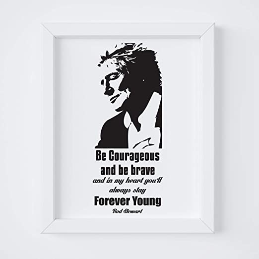 "Graphic Art Poster The amazing /""Rod Stewart/"" Wall Art"