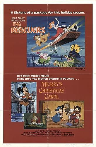 Mickeys Christmas Carol 1983.The Rescuers Mickey S Christmas Carol 1983 Authentic 27 X
