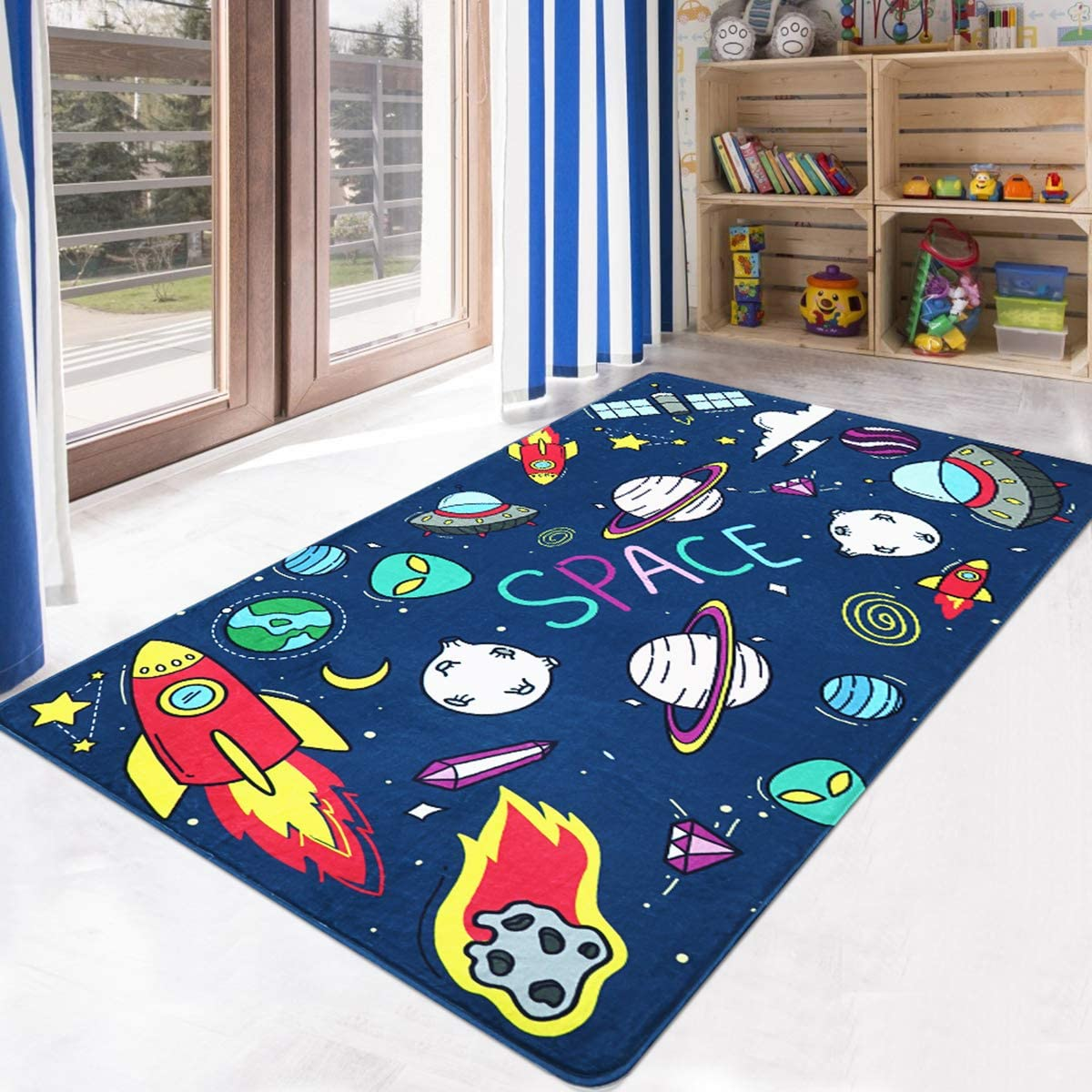 Super Soft Foam Kids Play Area Rugs 3 x 5 Non-Slip Childrens Carpet World Map Animals Educational Learning /& Game/for Living Room Bedroom Playroom Nursery Best Shower Gift LIVEBOX Play Mat