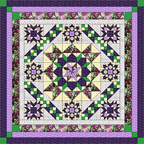 Quilt Kit Hexagon Stars, Purples/Queen
