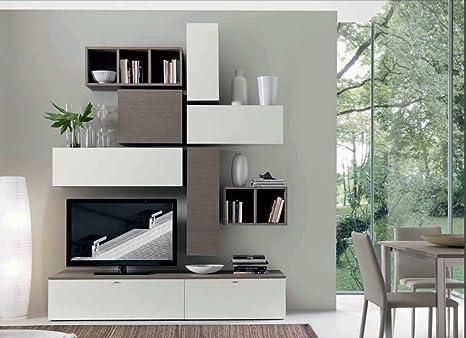 Arredaweb Mobile Soggiorno Living, Finitura Rovere Ontario e ...