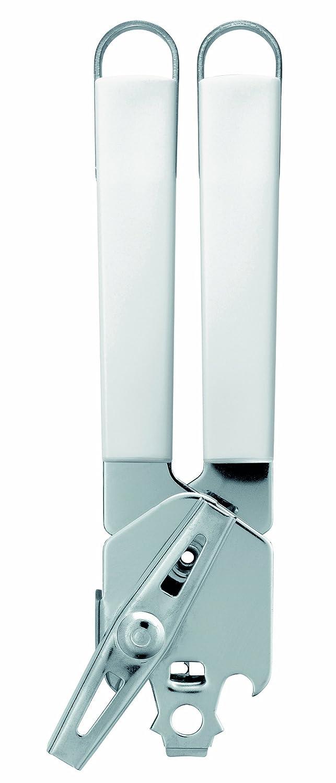 Brabantia 400643 - Abrelatas con asidero de Metal, Color Blanco y Gris