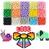 PATITI Aquabeads Set Water-activated Bead Craft Kit Solid Assorted Bead Pack for Beginners