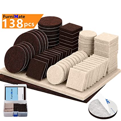Amazon.com: Almohadillas de muebles 138 piezas de dos ...
