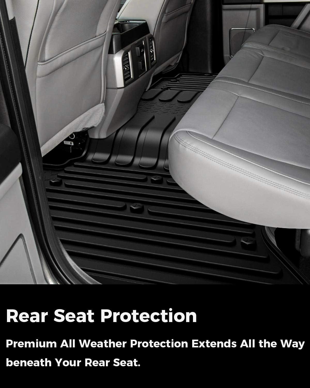 All Weather Floor Mats for 2013-2018 Dodge Ram 1500 Quad Cab Car Mats Floor Mat Floor Liner