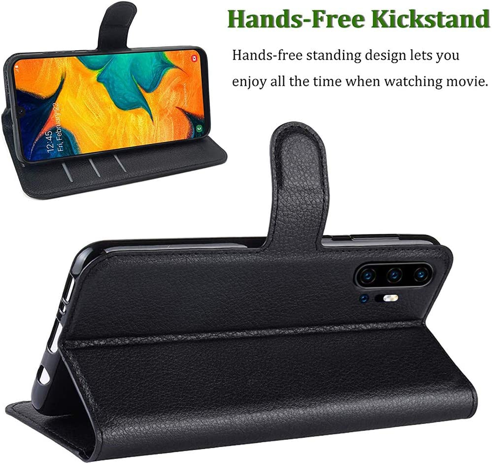 with Screen Protector,PU Leather Wrist Strap Card Slots Soft TPU Shockproof Protective Flip Cover Case,Black Umidigi F2 Case Umidigi F2 Wallet Case