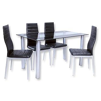 Roller Stühle Küche | Roller Esstischgruppe Cindy 5 Teilig Glastisch Und 4 Stuhle