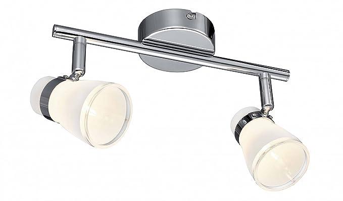 Esto light applique per interno da parete in vetro bianco linea