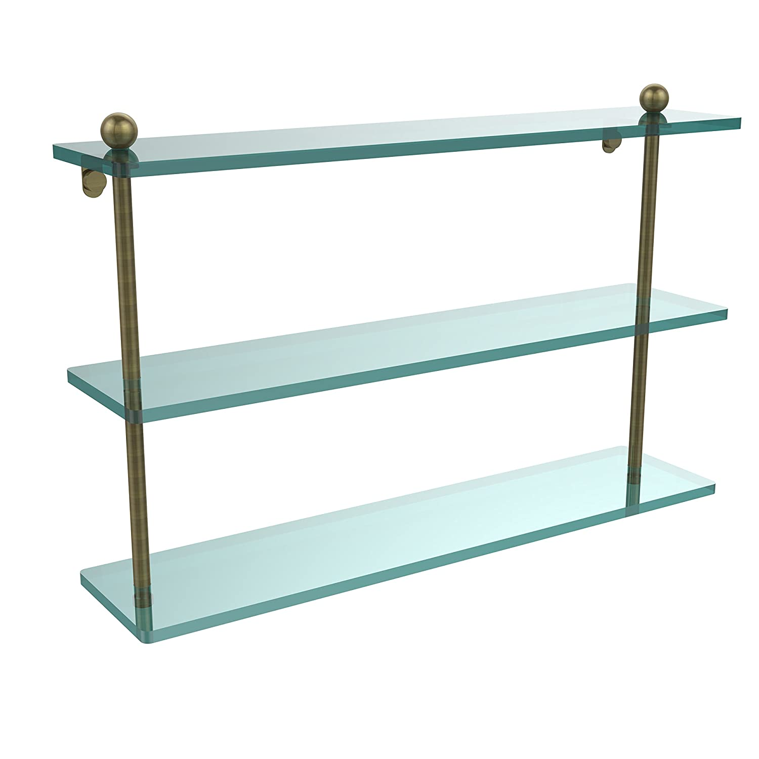 Allied Brass PR-5/22-ABR 22 Triple Glass Shelf Antique Brass by Allied Brass B0031124QS  アンティーク真鍮