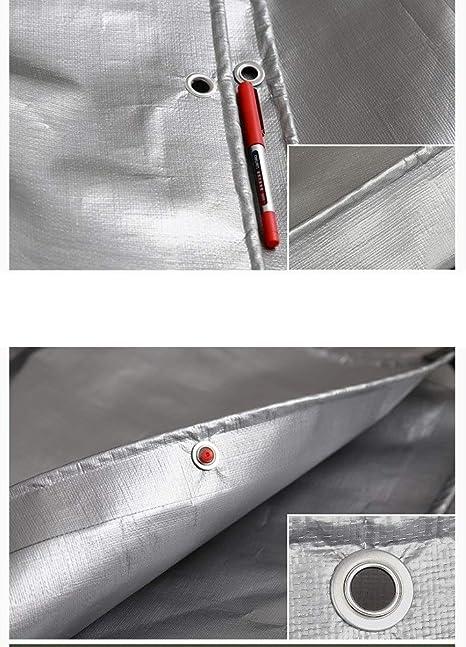DEWUFAFA Carpa Pesada Deber Lona Lona Pintada Barco.RV O Piscina Cubierta 600g Impermeable 6x7M Color : Gray, Size : 2x2m