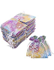 "Luxbon 100Pcs Coralline Organza Drawstring Bags Jewelry Pouches Wedding Party Candy Chocolate Christmas Favor Gift Bags 3.35"" X 4.7"""