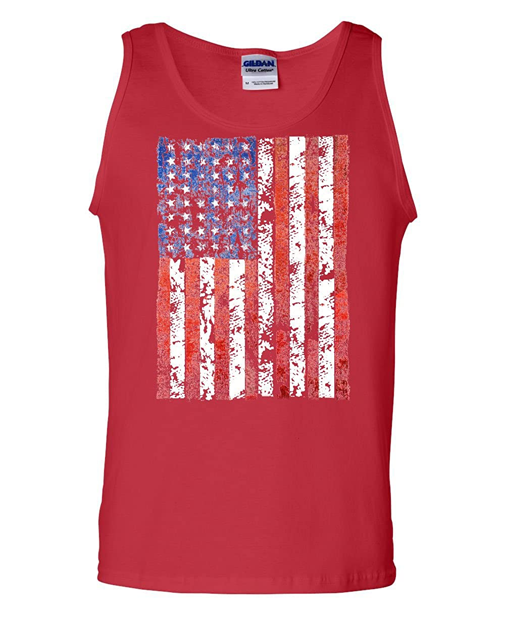 Tee Hunt Distressed US Flag Tank Top American Flag
