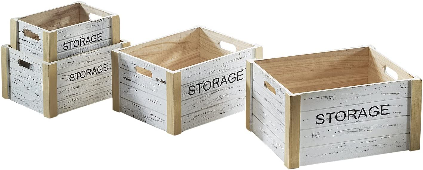Caja de madera Storage Cajas Juego cajón-estantería fruta (Decorar ...