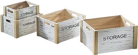Caja de madera Storage Cajas Juego cajón-estantería fruta (Decorar Caja Vino Vintage Caja de madera, caja: Amazon.es: Hogar