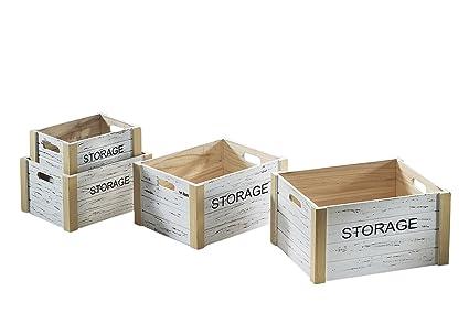 Caja de madera Storage Cajas Juego cajón-estantería fruta ...