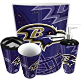 The Northwest Company Baltimore Ravens NFL 4 Piece Bathroom Decorative Set Scatter Series