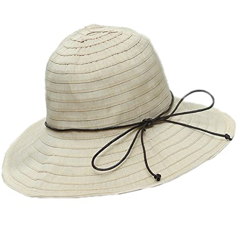 943317ee1 Chytaii Summer Ladies Sun Hat Floppy Wide Brim Elegant Stripes Beach ...
