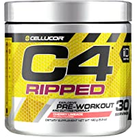 Cellucor C4 Ripped Pre Workout Powder Energy Drink for Men & Women with Green Coffee Bean Extract, Cherry Limeade, 30 Servings
