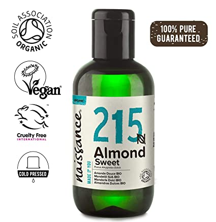 Naissance Organic Sweet Almond Oil 100ml Certified Organic Cold Pressed