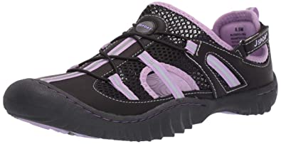 702f0f56f3d9 JSport by Jambu Women s Bleeker Fisherman Sandal Black Lavender 6 M US