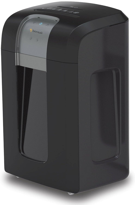 Bonsaii 3D14 Aktenvernichter, bis zu 8 Blatt, Partikelschnitt (Sicherheitsstufe P-4), Hochleistungsmotor, geeignet für Datenschutz nach Verordnung (DSGVO 2018), schwarz/silber Genie