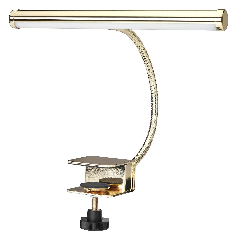 LED Notenpultleuchte Schwanenhalslampe Pultlampe Klemmlampe incl Netzteil /& USB