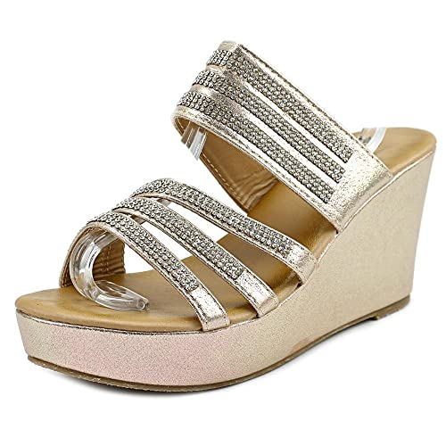 dec51feb579b Image Unavailable. Image not available for. Color  Patrizia by Spring Step  Halogen Women US 8.5 Gold Wedge Sandal