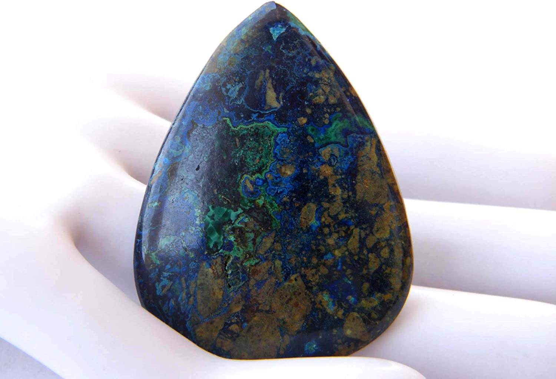 32X20X5 mm  For Pendant B-52 Rare Azurite Malachite Cabochon oval Shape Natural Loose Gemstone