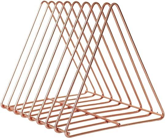 Vosarea Escritorio Estante Metal Forma Triangular Mesa Estante ...