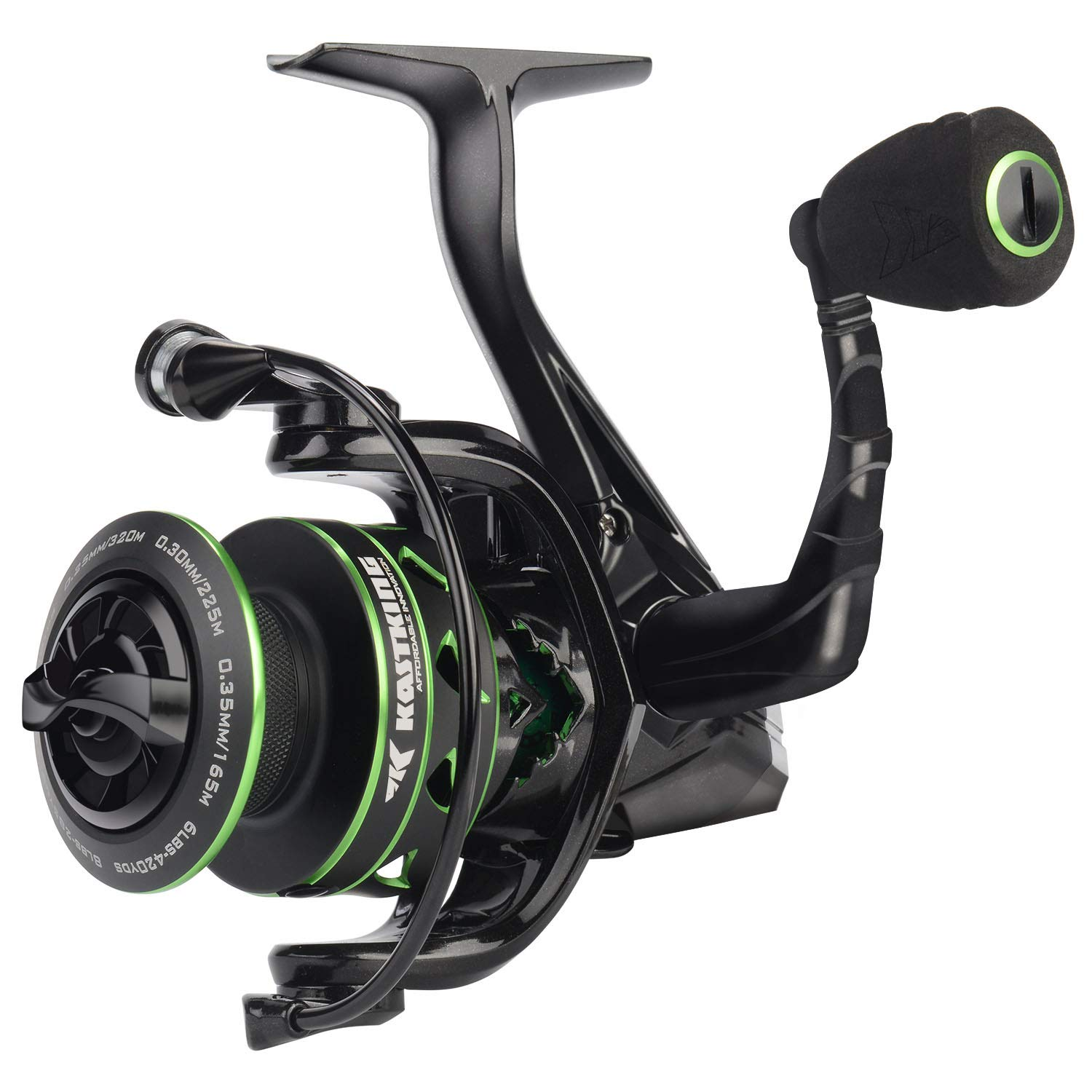 KastKing Valiant Eagle Spinning Reel - 6.2:1 High-Speed Gear Ratio, Freshwater and Saltwater Fishing Reel, Faster Line Retrieve, Braid Ready Spool