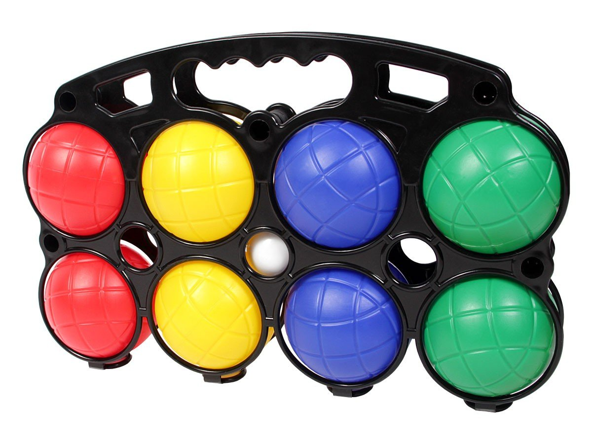 Alsino kit di gioco da bocce sfere colorate pallino in