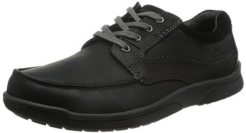 Clarks Un Walk - Zapatos de cordones, color Negro, talla 10 UK H
