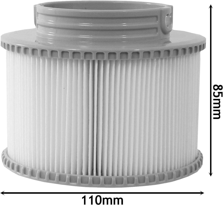 Pack of 2 SPARES2GO Filter Cartridge for MSpa Exotic Tuscany Alpine Nest Silver Cloud Tekapo Aurora Hot Tub
