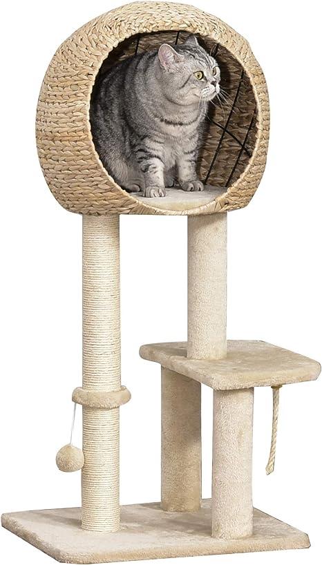 Pawhut Árbol Rascador para Gatos Torre de Escalada con ...