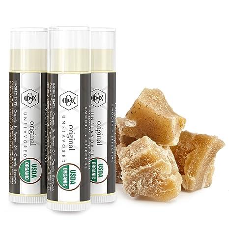 Bálsamo labial, el Original sin sabor ni olor (4unidades) - Protector labial 100% natural con cera de abeja pura, aloe vera y vitamina E. - Repara y ...