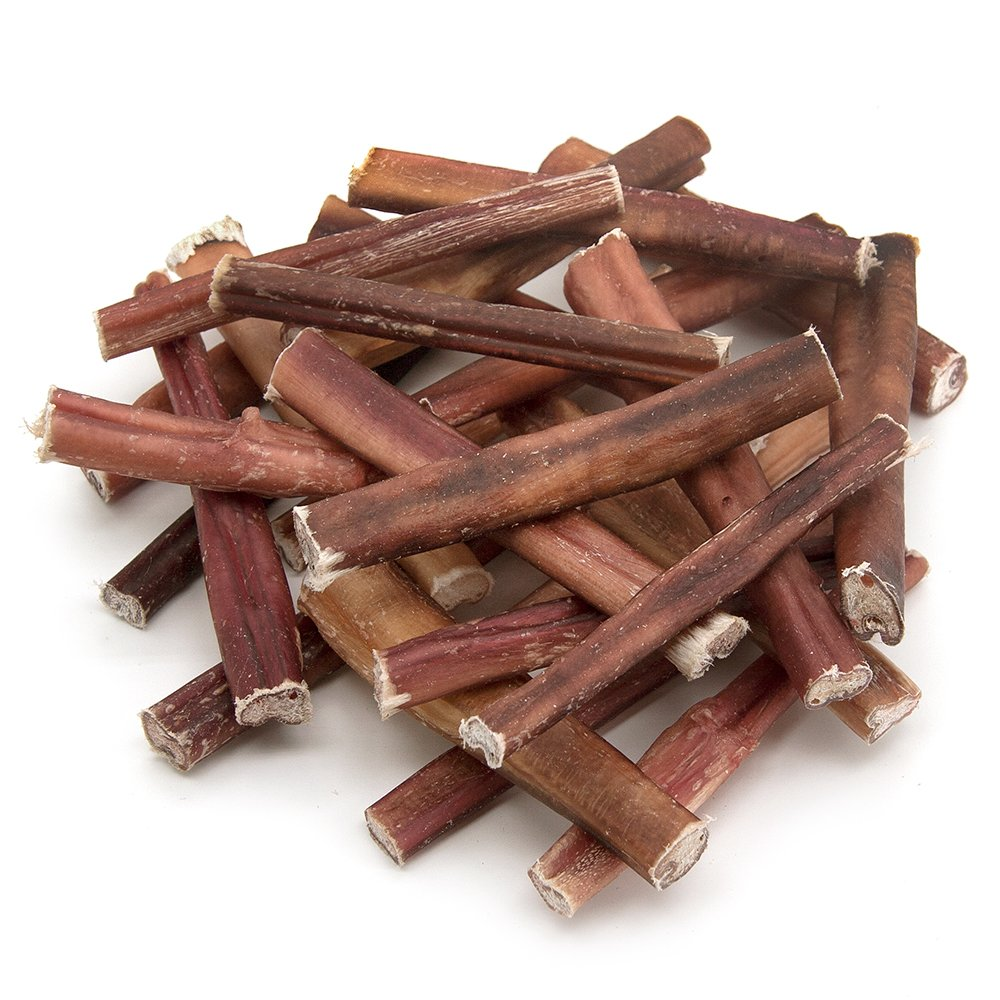 GigaBite 6 Inch Odor-Free Bully Sticks (25 Pack) - USDA & FDA Certified All Natural, Free Range Beef Pizzle Dog Treat - By Best Pet Supplies