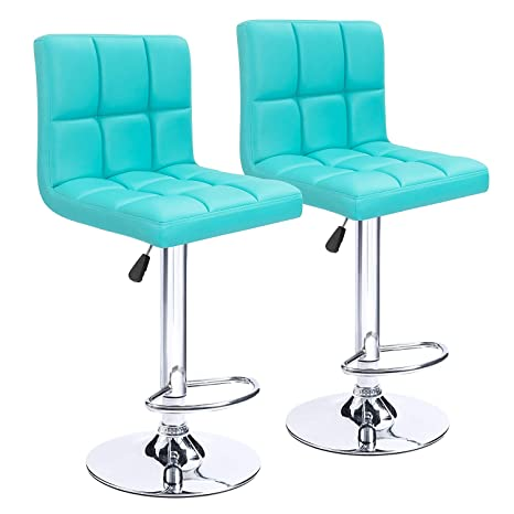 Enjoyable Homall Modern Pu Leather Adjustable Swivel Barstools Armless Hydraulic Kitchen Counter Bar Stools Synthetic Leather Extra Height Square Island Bar Ocoug Best Dining Table And Chair Ideas Images Ocougorg