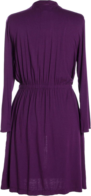 Small Plum Carole Hochman Midnight Modal Fitted Short Robe 134841