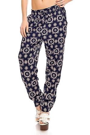 Damenhose leichet Sommerhose mit Taschen in vielen Muster-Varianten  erhältlich, Aladin Harems-Hose 28a1f40fc2