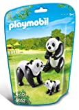 Playmobil 6652 - Famiglia di Panda, Nero/Bianco