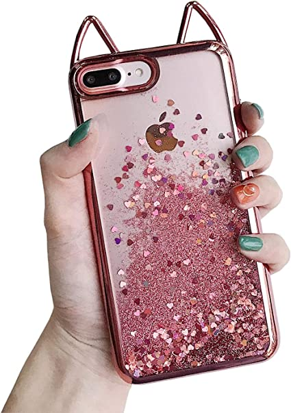 Glitter Liquido Cover per iPhone 7 Plus / 8 Plus (5.5