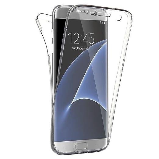 312 opinioni per SAVFY® Custodia full body Samsung Galaxy S7 Edge, Protezione a 360°, Morbido TPU