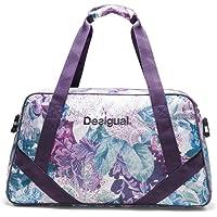 Desigual Damen Sporttasche Fitness Yoga Freizeit Tasche Gym Bag Art&Thread Carry Bag 18WQXW04/3020, Magenta Haze (Violett / Blau / Weiß), One Size