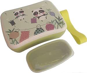 Fiambrera de Bambu Infantil Pack Tuper y Sandwichera de Fibra de Bambú - Material Ecologico, Reciclable, Biodegradable y Ligero - Apto para Lavavajillas - Lonchera Eco, Bio, Sin BPA - Ideal niños: Amazon.es: Hogar