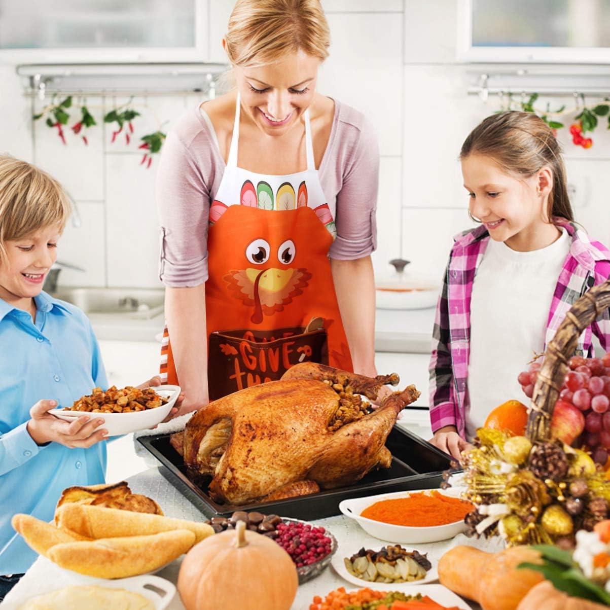 Cooking Apron Thanksgiving Day Kitchen Turkey Apron Waterproof Thanksgiving Day Cooking Supplies