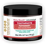 Dirty Mouth Natural Alkalizing Toothpaste For Sensitive Teeth and Gums | Remineralize, Strengthen, and Restore Enamel | 2.7 o