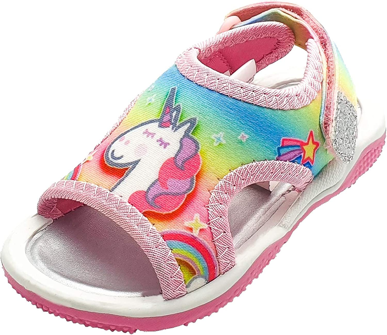 Peppa Pig Girls Rainbow Unicorn Sandals
